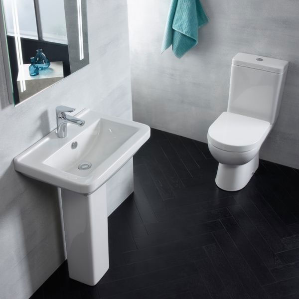 Tavistock Ion 560mm Ceramic Basin & Pedestal Profile Large Image