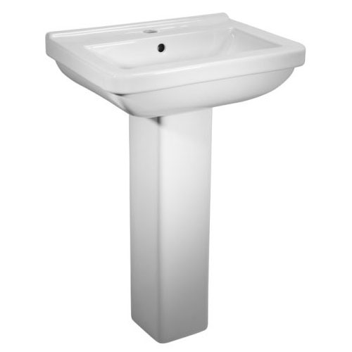 Tavistock Ion 560mm Ceramic Basin & Pedestal Large Image