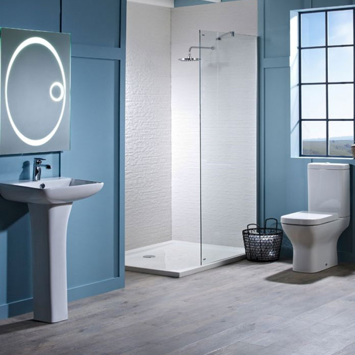 Tavistock Structure Open Back Close Coupled WC & Soft Close Seat Standard Large Image