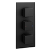 Arezzo Square Modern Triple Concealed Shower Valve - Matt Black profile small image view 1