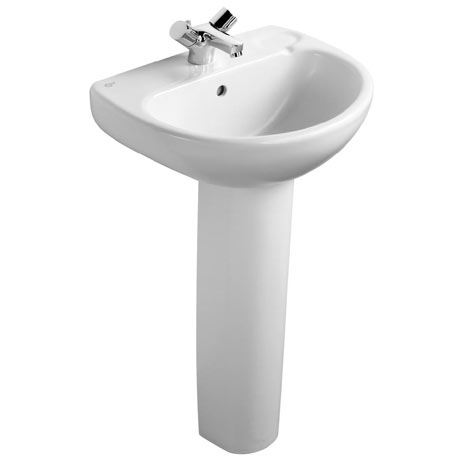 Ideal Standard Studio 50cm 1TH Basin & Pedestal