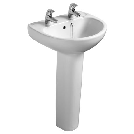 Ideal Standard Studio 50cm 2TH Basin & Pedestal