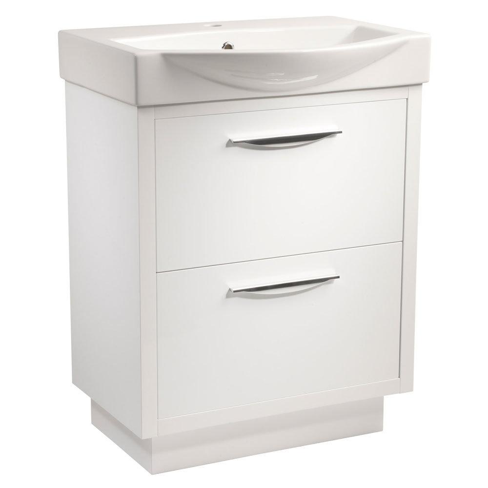 Tavistock Studio 650mm Freestanding Unit & Basin - Gloss White Large Image
