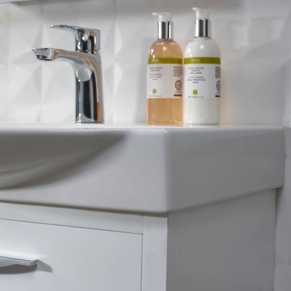 Tavistock Studio 650mm Freestanding Unit & Basin - Gloss White Profile Large Image