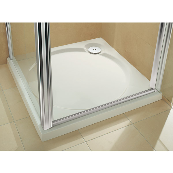 Coram Designer Slimline Square Shower Tray - 3 Size Options profile large image view 2