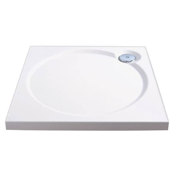 Coram Designer Slimline Square Shower Tray - 3 Size Options profile large image view 1