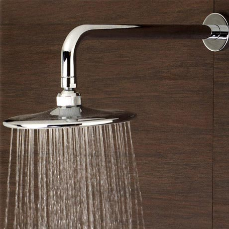 Minimalist 200mm Round Fixed Shower Head - STY014 profile large image view 2