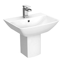 RAK Summit 50cm Basin 1TH with Half Pedestal Medium Image