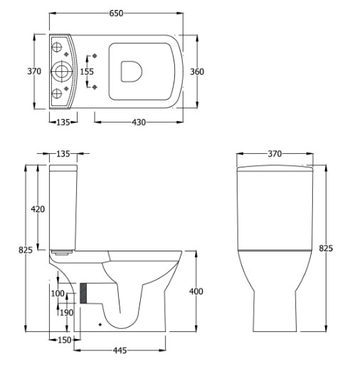 Dimension Wc Plan : Standard toilet dimensions uk basin line drawing s with