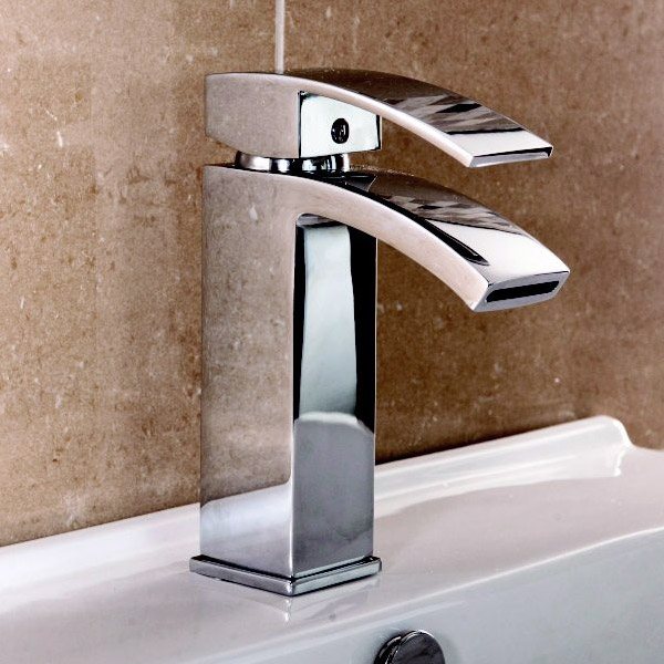 Summit Mono Basin Mixer with Waste - Chrome profile large image view 2