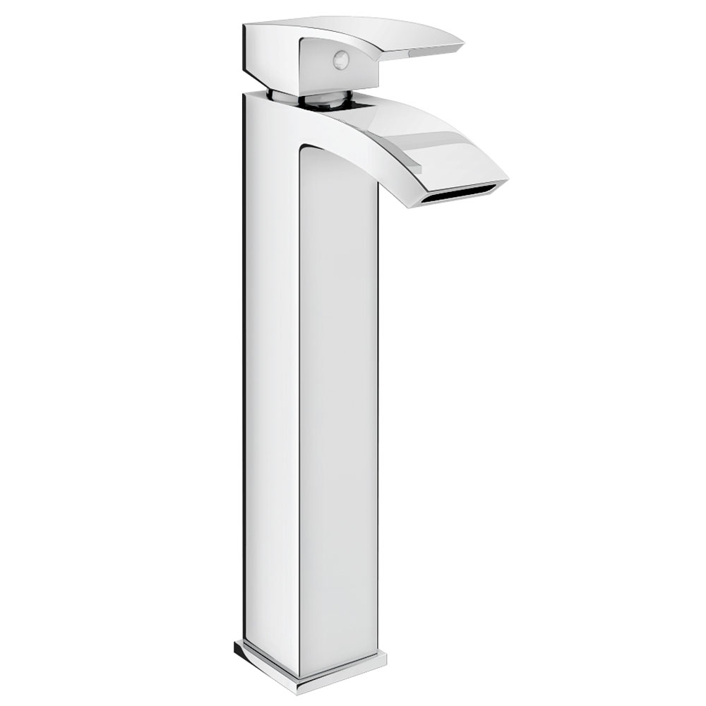 Summit High Rise Mono Basin Mixer with Waste - Chrome