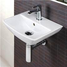 RAK Summit Square Cloakroom Hand Basin Sink 40cm 1TH Medium Image