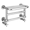 Chatsworth Traditional 300 x 500mm Chrome Heated Towel Rail Shelf profile small image view 1