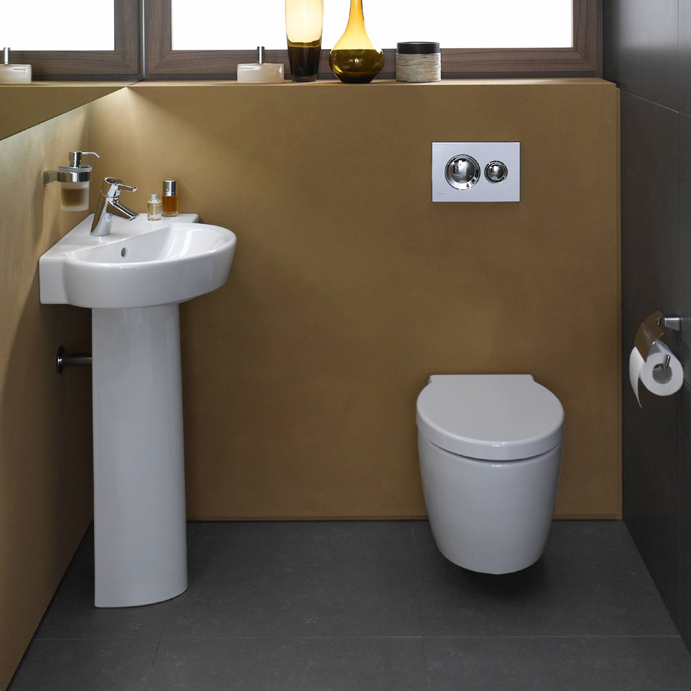Vitra - Sunrise Wall Hung Wall Toilet Pan - 2 Seat Options profile large image view 4