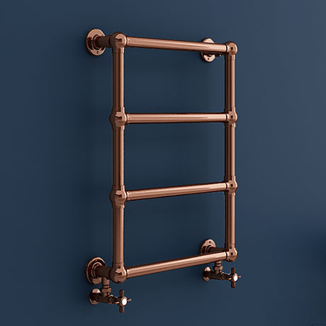 Bloomsbury Copper 498 x 748mm Wall Mounted Towel Rail