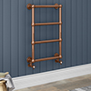 Bloomsbury Copper 498 x 748mm Wall Mounted Towel Rail profile small image view 1