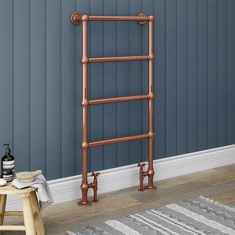 Bloomsbury Copper 598 x 1194mm Floor Mounted Towel Rail