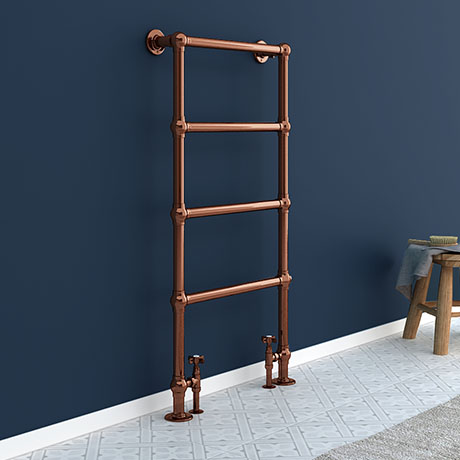 Bloomsbury Copper 598 x 1194mm Floor Mounted Towel Rail