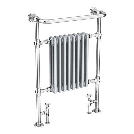 Savoy Light Grey Traditional Heated Towel Rail Radiator