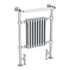 Savoy Light Grey Traditional Heated Towel Rail Radiator profile small image view 1