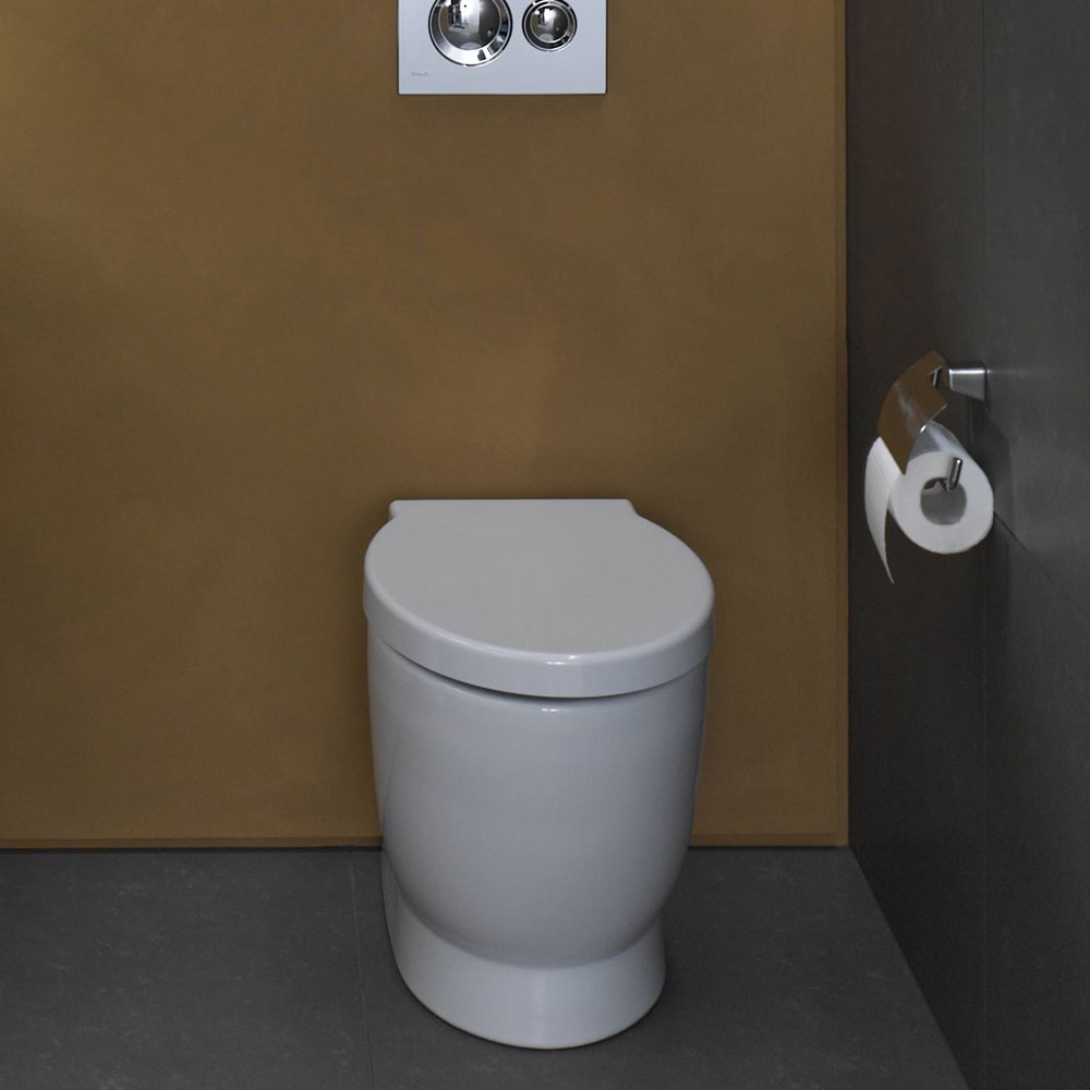 Vitra - Sunrise Back to Wall Toilet Pan - 2 Seat Options profile large image view 2