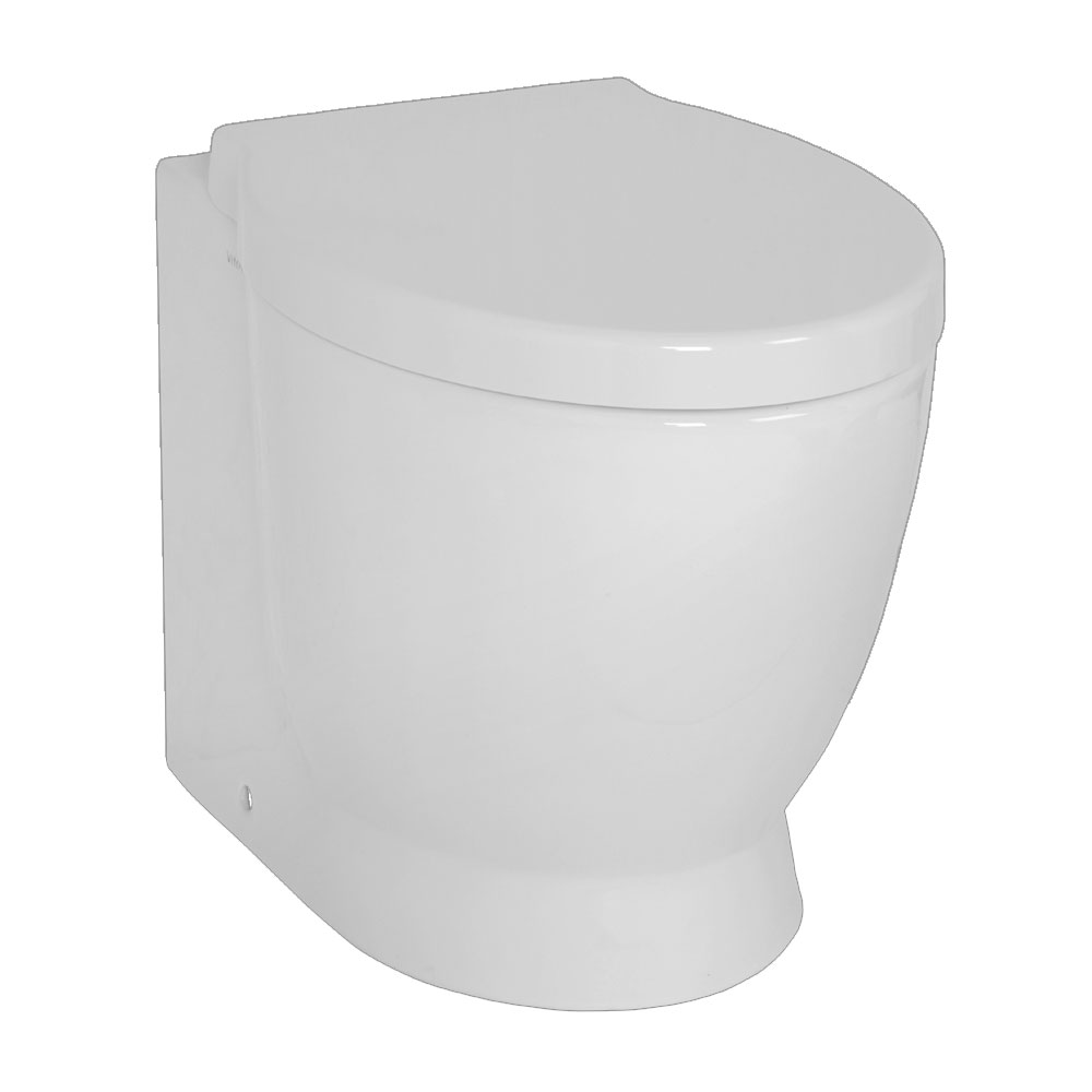 Vitra - Sunrise Back to Wall Toilet Pan - 2 Seat Options profile large image view 1