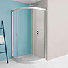 Crosswater Supreme Offset Quadrant Single Door Shower Enclosure - 4 Size Options profile small image view 1