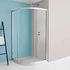 Simpsons Supreme Offset Quadrant Single Door Shower Enclosure - 4 Size Options profile small image view 1