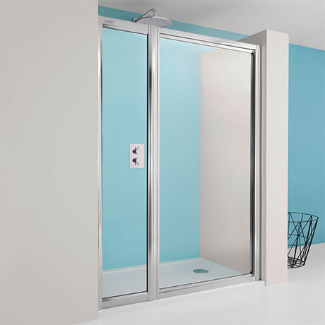 Simpsons - Supreme Pivot Shower Door with Inline Panel - 3 Size Options