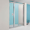 Crosswater - Supreme Pivot Shower Door with Inline Panel - 3 Size Options profile small image view 1