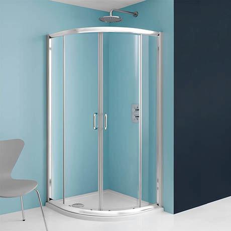Simpsons Supreme Luxury Curved Offset Quadrant Shower Enclosure - 3 Size Options