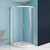 Crosswater - Supreme Luxury Curved Quadrant Shower Enclosure - 2 Size Options profile small image view 1