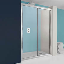 Simpsons - Supreme Single Slider Shower Door - 4 Size Options Medium Image