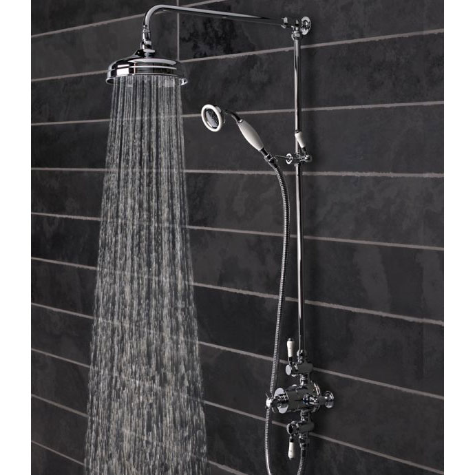 Tavistock Varsity Thermostatic Exposed Dual Function Shower Valve System profile large image view 2