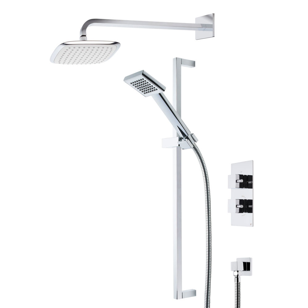 Roper Rhodes Event Square Dual Function Shower System with Fixed Shower Head - SVSET17 Large Image
