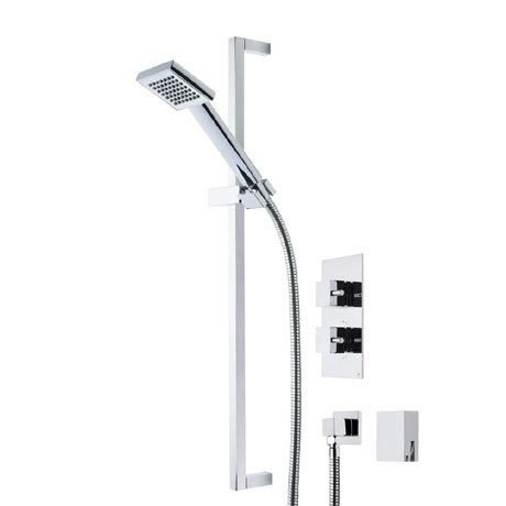 Roper Rhodes Event Square Dual Function Shower System with Bath Filler - SVSET18