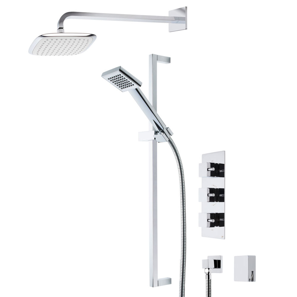 Roper Rhodes Event Square Triple Function Shower System with Bath Filler - SVSET19 profile large image view 1