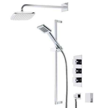 Roper Rhodes Event Square Triple Function Shower System with Bath Filler - SVSET19
