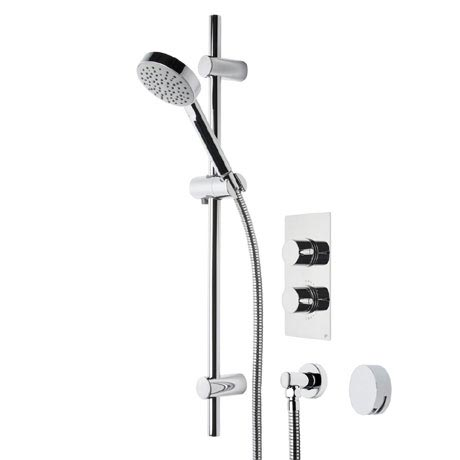 Roper Rhodes Event Round Dual Function Shower System with Bath Filler - SVSET21