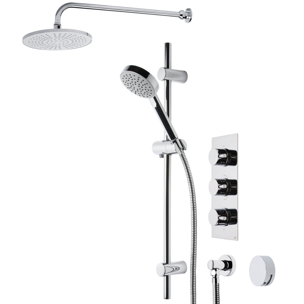 Roper Rhodes Event Round Triple Function Shower System with Bath Filler - SVSET22 Large Image