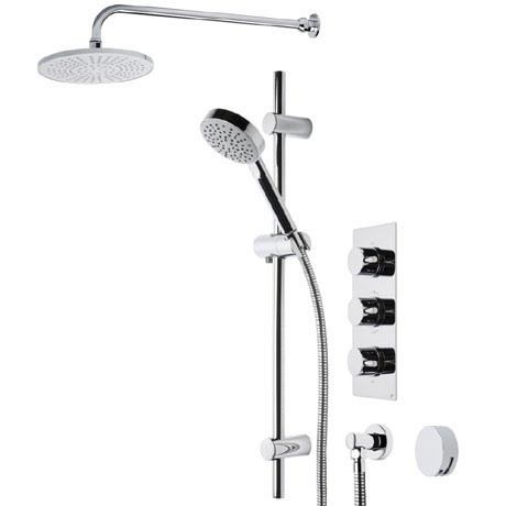 Roper Rhodes Event Round Triple Function Shower System with Bath Filler - SVSET22