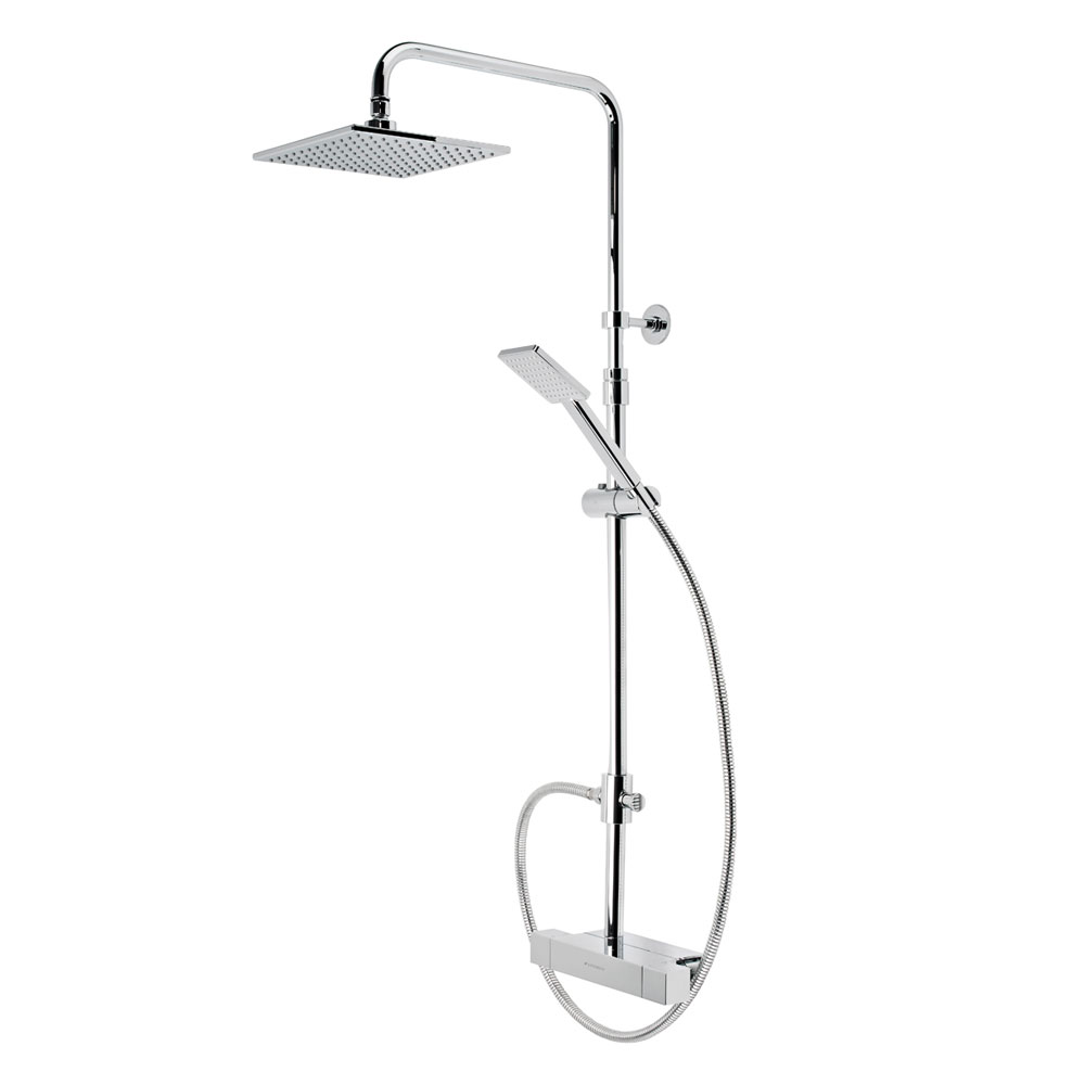 Roper Rhodes Factor Exposed Dual Function Shower System with Accessory Shelf - SVSET36 Large Image