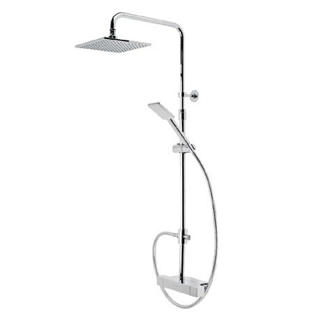 Roper Rhodes Factor Exposed Dual Function Shower System with Accessory Shelf - SVSET36