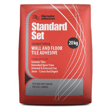 Tilemaster Adhesives Standard Set Floor & Wall Tile Adhesive - Grey