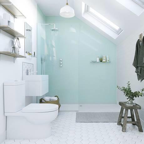 showerwall - waterproof decorative wall panel - aqua ice