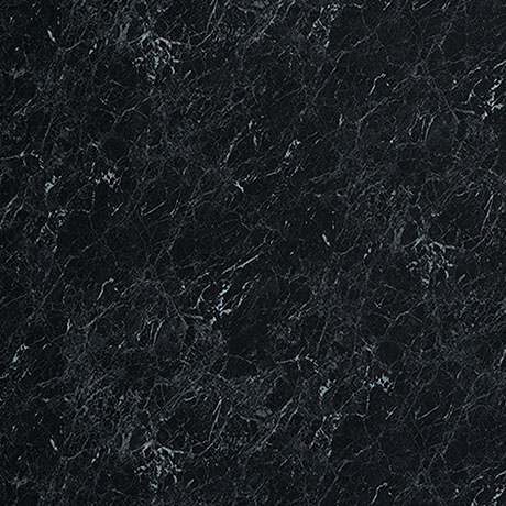 Showerwall Black Marble Waterproof Decorative Wall Panel - Various Size Options