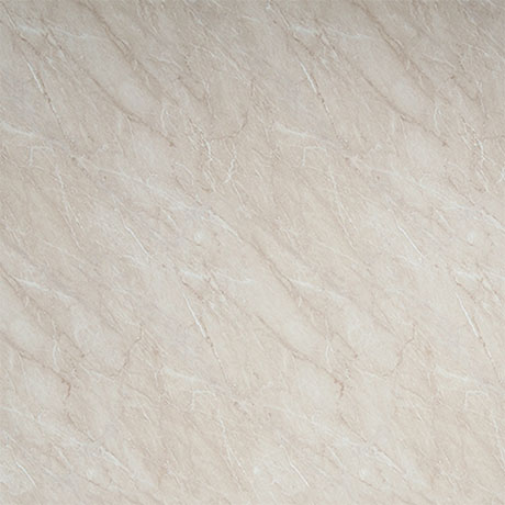 Showerwall Ivory Marble Waterproof Decorative Wall Panel - Various Size Options