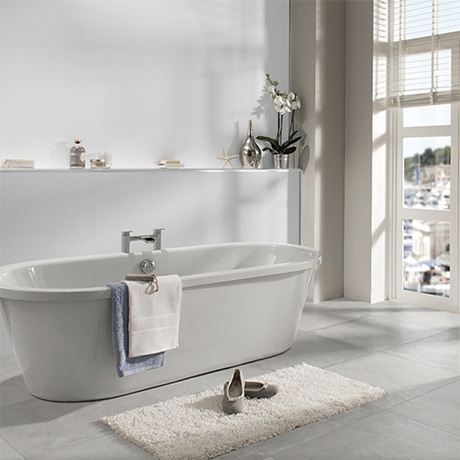 Showerwall White Gloss Waterproof Decorative Wall Panel - Various Size Options