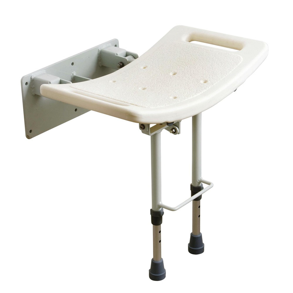 Drive DeVilbiss Wall Mounted Shower Seat with Drop Down Legs - SWALL002