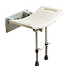 Drive DeVilbiss Wall Mounted Shower Seat with Drop Down Legs - SWALL002 profile small image view 1